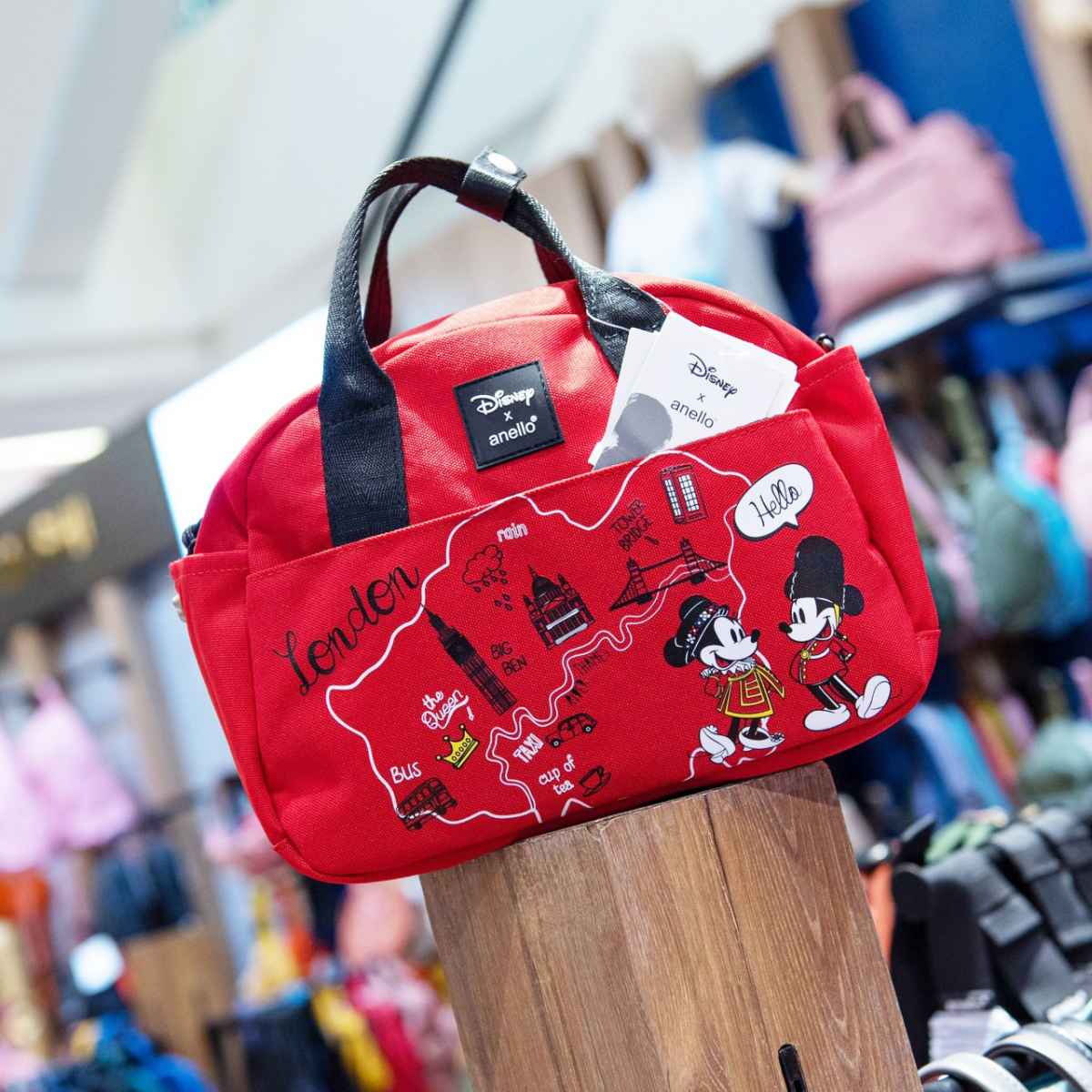 Anello กระเป๋า สีแดง