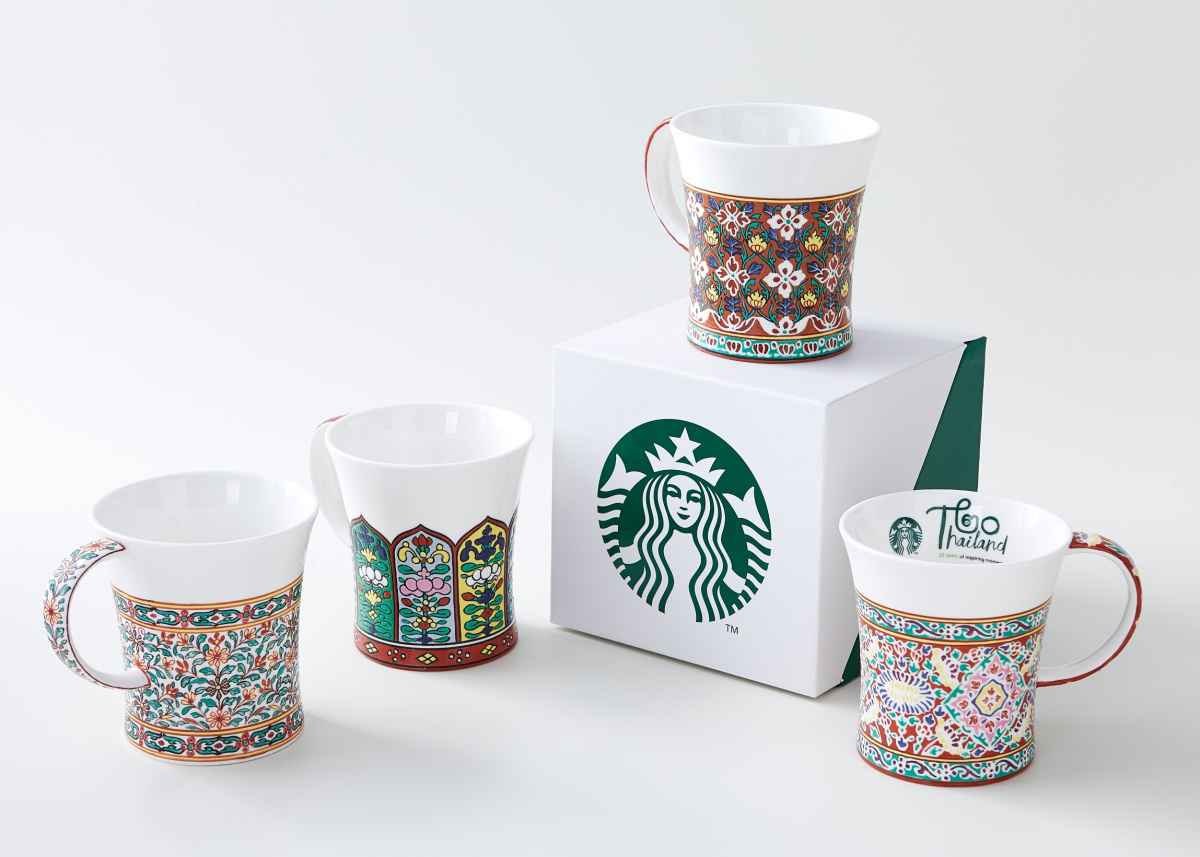 Starbucks แก้วเบญจรงค์