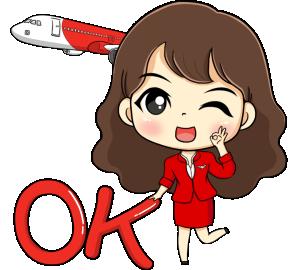 Sticker LINE Air Asia 5