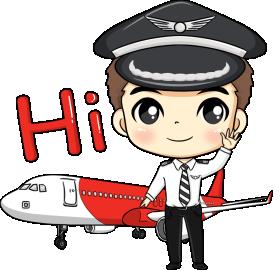 Sticker LINE Air Asia 1